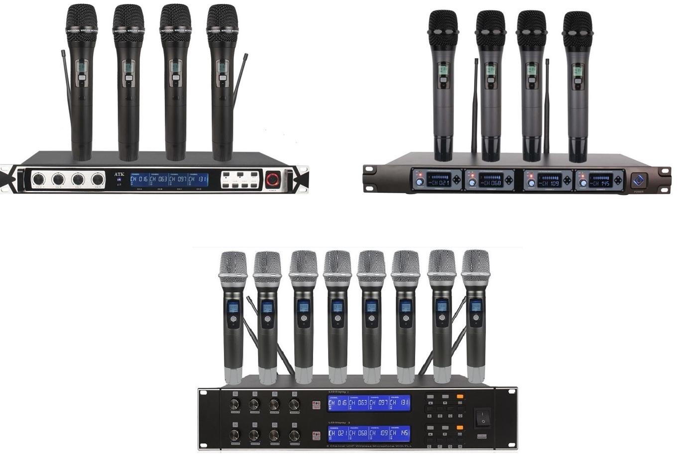 micro không dây bộ nhiều mic cao cấp chất lượng cao