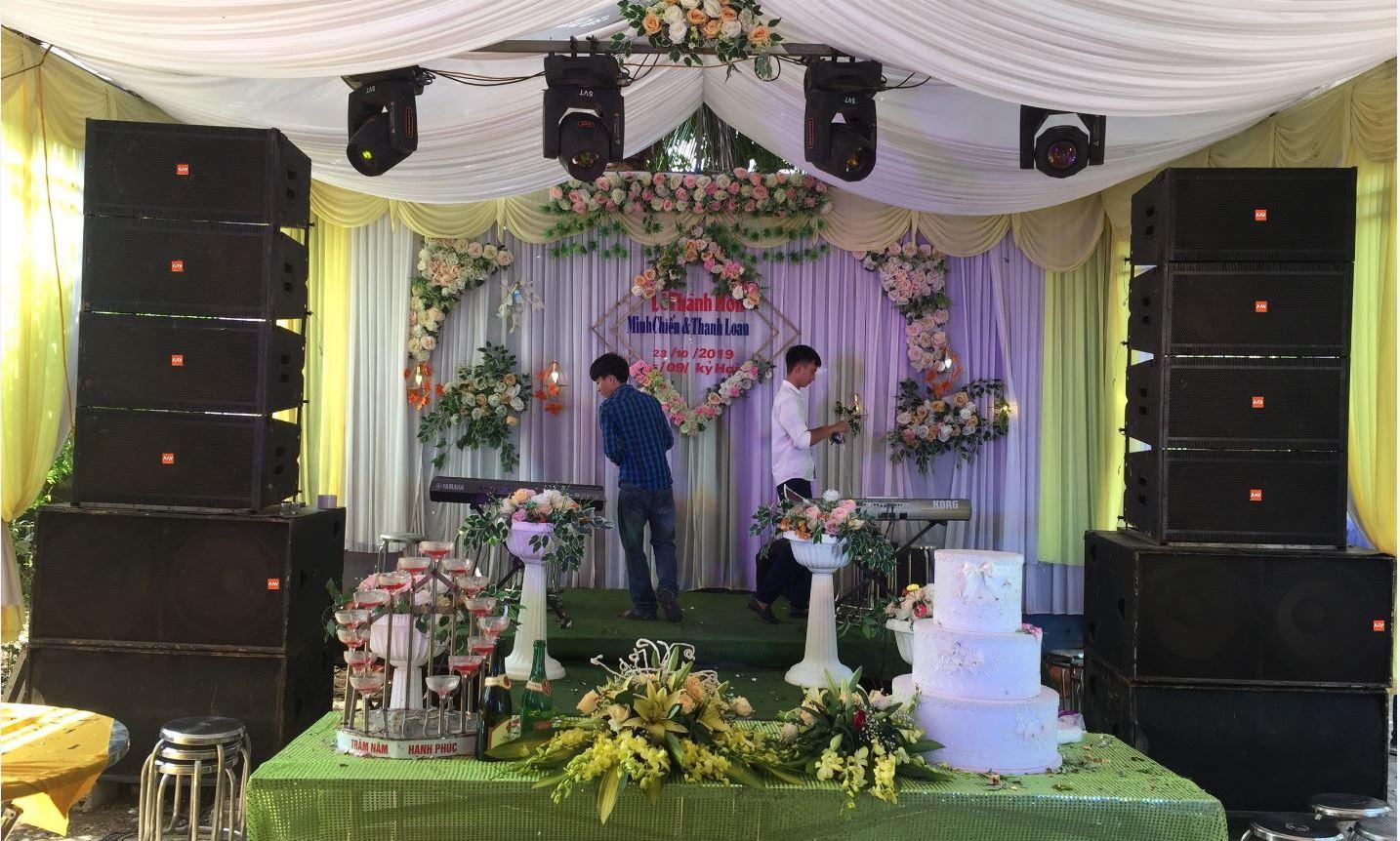 Dàn âm thanh - ánh sáng tiệc cưới