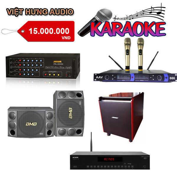 Bộ karaoke hát hay, giá rẻ, chỉ từ 4-5 triệu đồng có dàn karaoke chất lượng tại Việt Hưng Audio