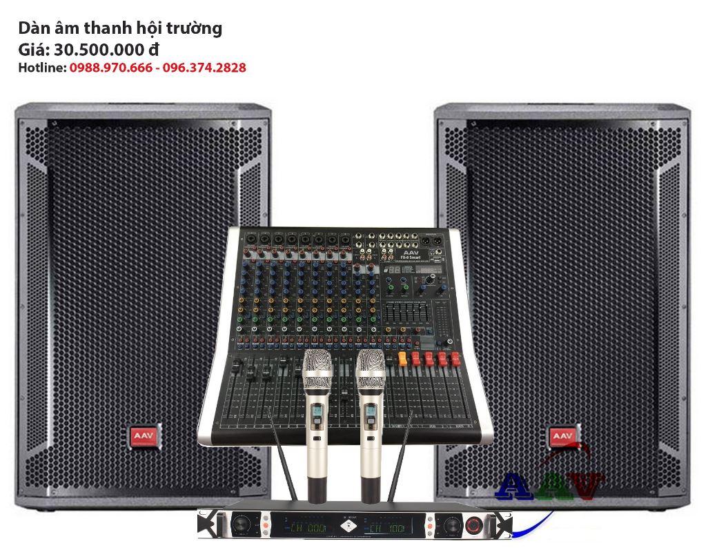 Dàn âm thanh chuẩn cho sân khấu ngoài trời giá rẻ  dùng loa liền công suất 200 m2