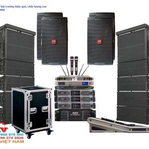 Dàn âm thanh hội trường sân khấu chuyên nghiệp, giá rẻ sử dụng loa Line array