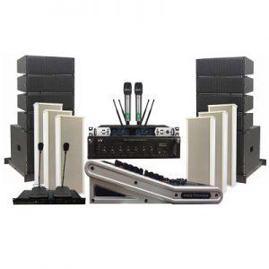 Dàn âm thanh – ánh sáng hội trường nhà văn hóa quận, huyện HOT nhất dùng loa Line Array active