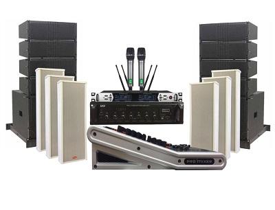 Dàn âm thanh hội trường xã cao cấp – sử dụng loa Line Array liền công suất