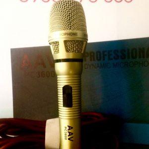 Micro có dây AAV- PC3600 chất lượng cao, sang trọng, mang lại tiếng hát đầy quyến rũ
