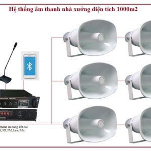 Dàn âm thanh nhà xưởng 1000 m2 chất lượng cao, đa năng, hiệu quả tối ưu, giá tốt nhất