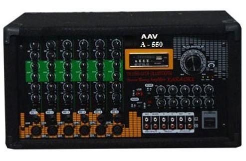 Amply hội trường 500W, 6 đường mic chuẩn, giá rẻ AAV A-550