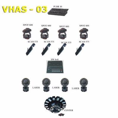 Bộ ánh sáng mẫu VHAS-03 – Ánh sáng sân khấu hội trường chất lượng cao