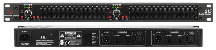 Equalizer TK EQ-215 chất lượng tốt, giá rẻ, chuyên dùng cho karaoke, dàn nghe nhạc gia đình