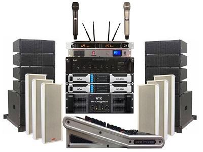 Dàn âm thanh hội trường xã chuyên nghiệp – sử dụng loa Line Array