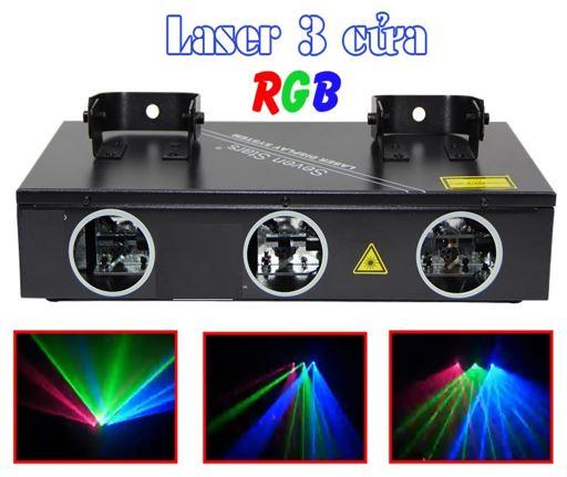 Đèn sân khấu, đèn lazer quét tia 3 cửa LSK-QT3