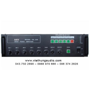 Tăng âm truyền thanh AAV EA-320, Ampli truyền thanh chọn 5 vùng 320 W cao cấp, giá tốt