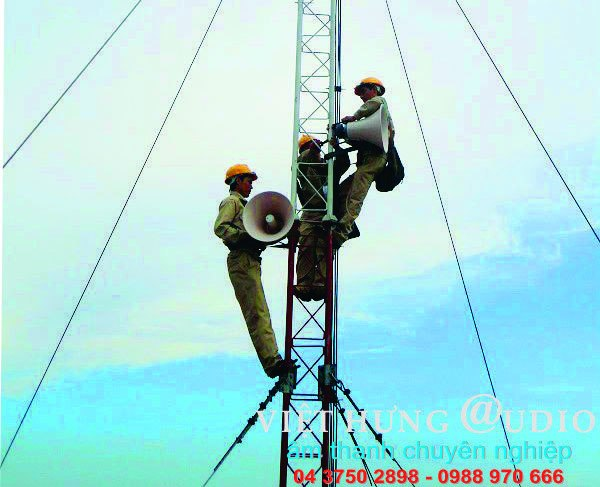 Việt Hưng Audio lắp đặt hàng loạt hệ thống truyền thanh không dây tại Sơn la
