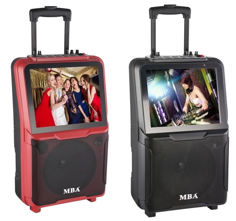 Loa kéo vỏ nhựa MBA chuyên nghiệp màn hình 15 inch