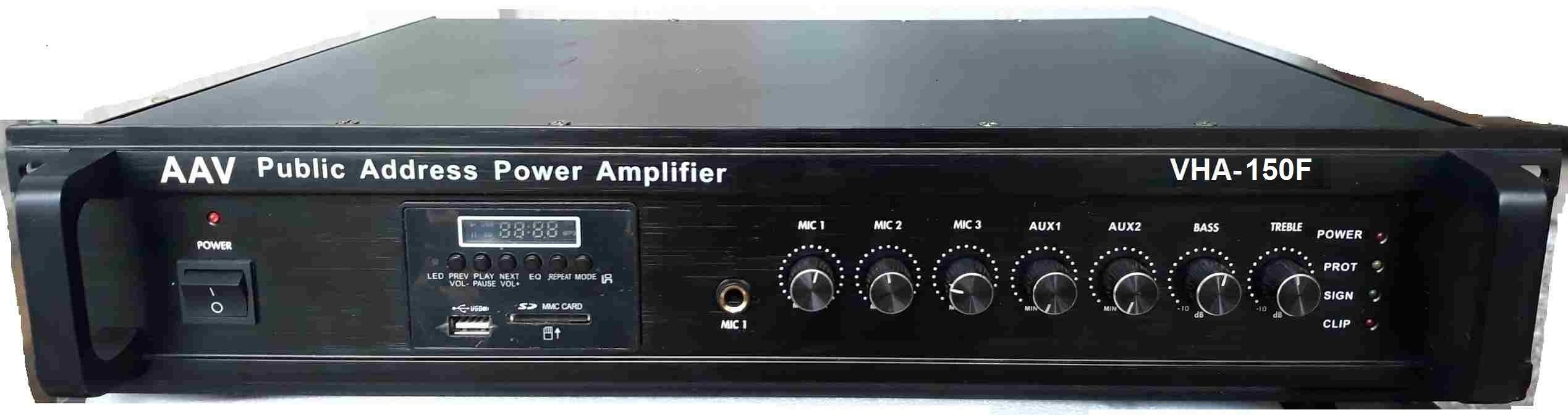 Tăng âm truyền thanh 150W màu đen sang trọng, bền bỉ, âm thanh chất lượng