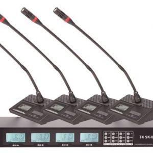 Micro không dây TK SK-844, micro không dây cổ ngỗng cao cấp, hiệu quả với âm thanh hội thảo, hội nghị