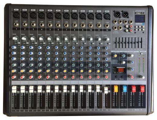 Mixer, bộ trộn âm thanh 16 line, 12 đường mic tốt nhất, giá xưởng AAV VX-12 Plus