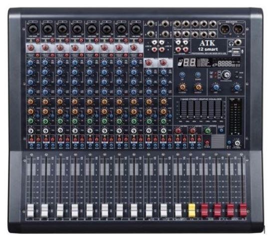 Mixer, bộ trộn âm thanh 12 line, 8 đường mic cao cấp, giá xưởng AAV PX-12