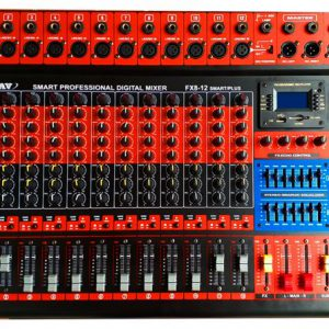 Mixer, bộ trộn âm thanh 16 line, 12 đường mic tốt, giá rẻ AAV MX-12