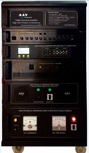 Tăng âm truyền thanh 2000W AAV PA-2000 chuẩn nhất, công suất lớn, giá gốc